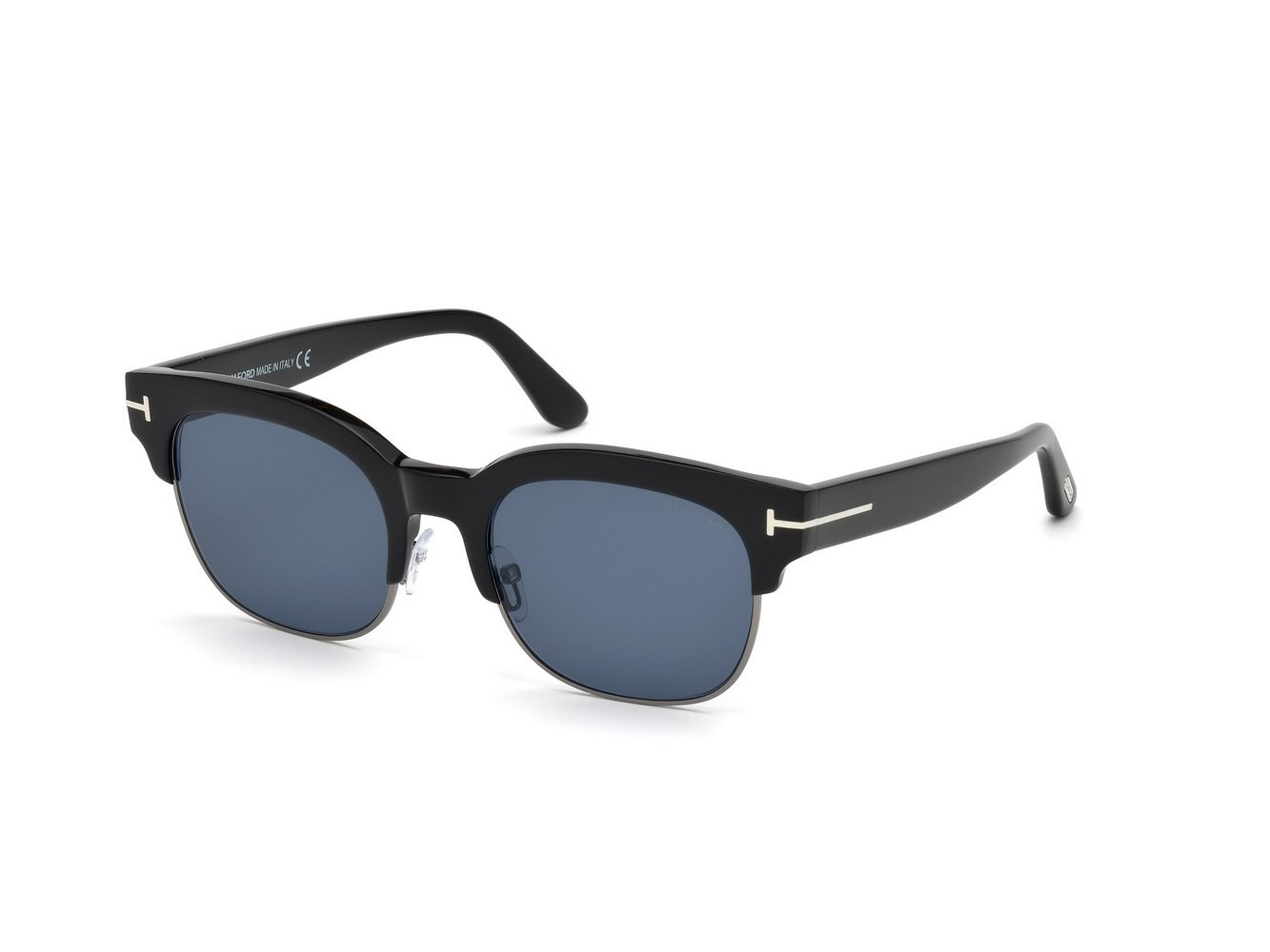 Tom Ford Sonnenbrille » FT0597«, schwarz, 01V - schwarz/blau