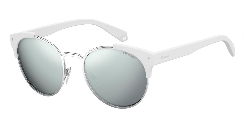 Polaroid Sonnenbrille » PLD 6038/S/X«, weiß, 6HT/EX - weiß/ silber