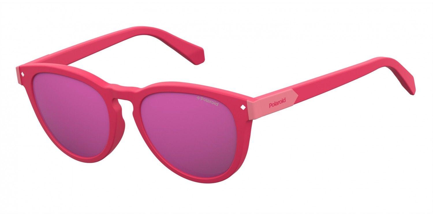 Polaroid Kinderbrillen Sonnenbrille » PLD 8026/F/S«, rot, C9A/AI - rot/ rosa
