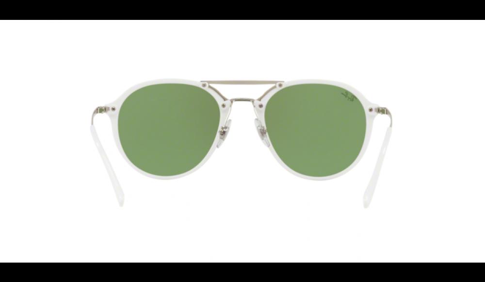 Ray Ban Ray-Ban Sonnenbrille »blaze Doublebridge Rb4292n«, Weiß, 671/30 - Weiß/silber